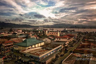 Port View At River Mahakam Art Print by Charuhas Images