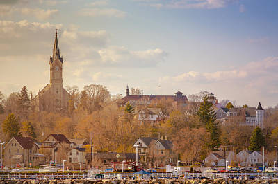Port Washington Skyline Art Print