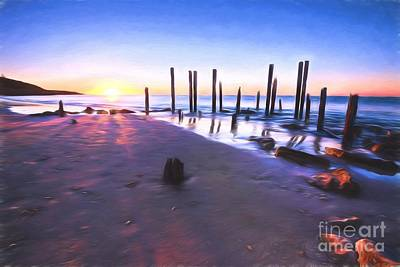 Photograph - Port Willunga Sunset     Go1 by Ray Warren