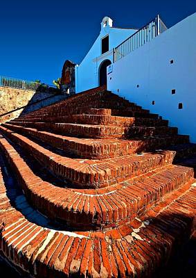 Porta Coeli Church Photograph - Porta Coeli Steps by  Ruiz de Porras