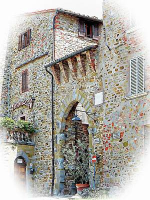 Photograph - Porta Fiorentina Paciano Side View by Dorothy Berry-Lound