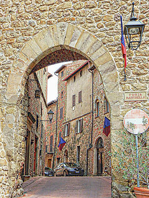 Digital Art - Porta Rastrella Paciano Umbria by Dorothy Berry-Lound