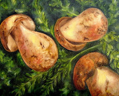 Painting - Portabellas At Market----sold by Susan Dehlinger