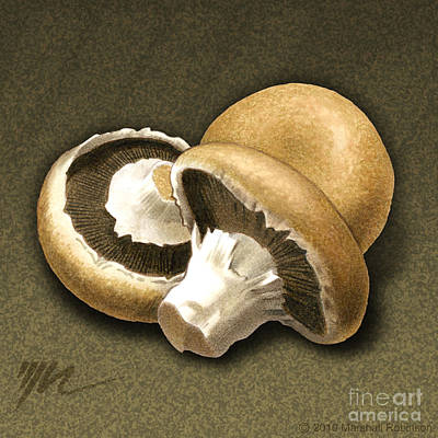 Portabello Mushrooms Art Print by Marshall Robinson