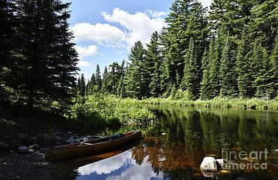 Photograph - Portage Landing Along The Moose River by Larry Ricker