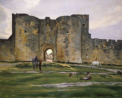 Horseback Painting - Porte De La Reine At Aigues-mortes by Frederic Bazille