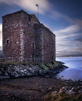 Photograph - Portencross Castle Scotland by Alex Saunders