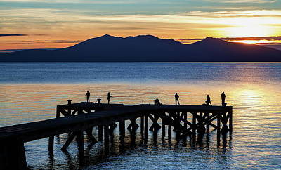 Digital Art - Portencross, Scotland   - Gone Fishing by Pat Speirs