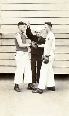 Photograph - Porter A Wilson - Boxing In Navy - 1918 by Mark Tisdale