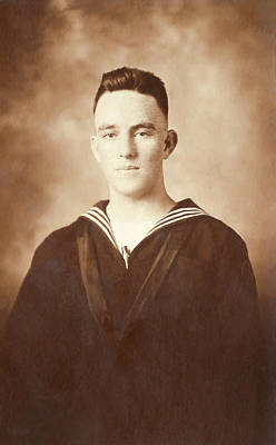 Photograph - Porter A Wilson - Navy 1918 by Mark Tisdale