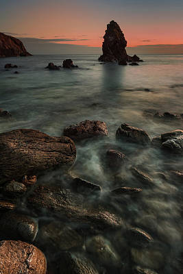 Photograph - Porth Saint Beach At Dusk. by Andy Astbury