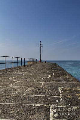 Photograph - Porthleven Pier by Brian Roscorla
