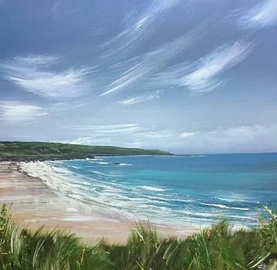Painting - Porthmeor Beach, St.ives  by Keran Sunaski Gilmore