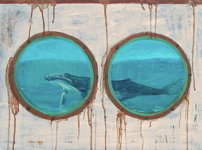 Painting - Porthole Humpback Whale by Ken Figurski