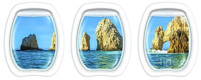 Photograph - Porthole Windows On Cabo San Lucas by Benny Marty