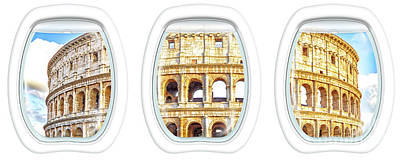 Photograph - Porthole Windows On Colosseo by Benny Marty