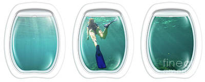 Photograph - Porthole Windows On Coral Reef by Benny Marty