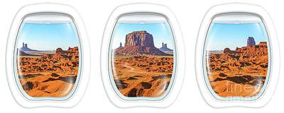 Photograph - Porthole Windows On Monument Valley by Benny Marty