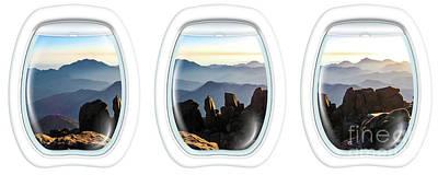 Photograph - Porthole Windows On Mount Sinai Summit by Benny Marty