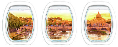 Porthole Windows On Rome Art Print