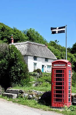 Photograph - Porthoustock Thatch And Telephone Box by Terri Waters