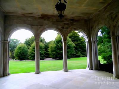 Digital Art - Portico View by Ed Weidman