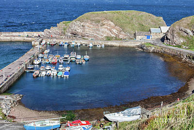 Photograph - Portknockie Harbour  by Diane Macdonald