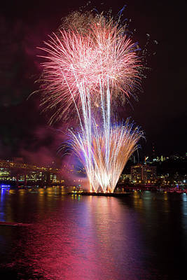 Photograph - Portland 4th Of July Fireworks by David Gn