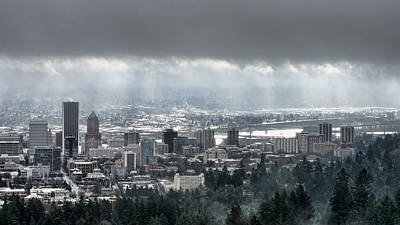 Photograph - Portland After A Morning Rain by Don Schwartz