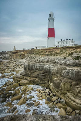 Photograph - Portland Bill Lighthouse by Alex Saunders