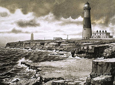 Chesil Beach Painting - Portland Bill by Pat Nicolle