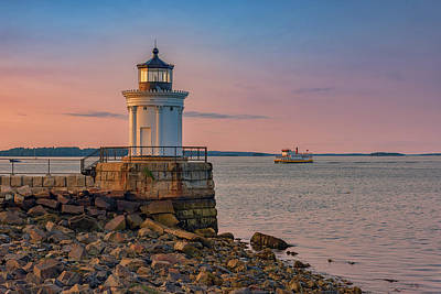 Photograph - Portland Breakwater Lighthouse At Dusk by Rick Berk