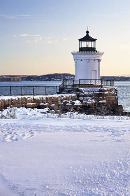 Portland Lighthouse Photograph - Portland Breakwater Lighthouse by Eric Gendron