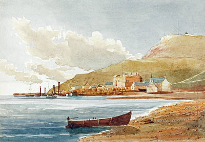Painting -  Portland Castle by James Bulwer