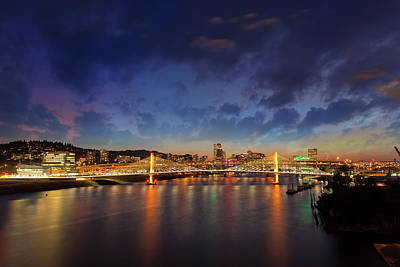 Wall Art - Photograph - Portland City Skyline By Tilikum Crossing by David Gn