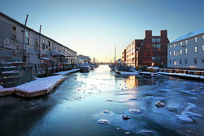 Photograph - Portland Custom House Wharf In Winter by Eric Gendron