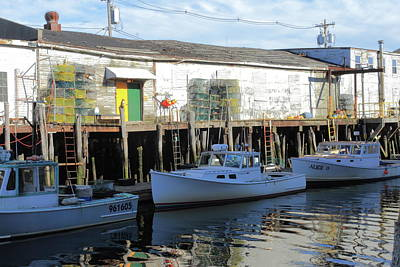 Photograph - Portland Fishing Fleet by Lou Ford