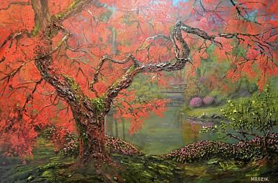 Painting - Portland Garden  by Michael Mrozik