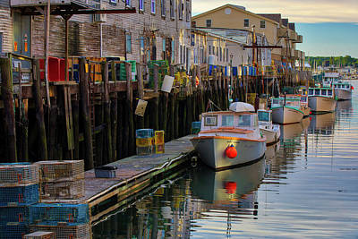 Photograph - Portland Harbor Fish Market  by Juergen Roth