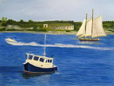 Painting - Portland Harbor by Linda Feinberg