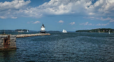 Photograph - Portland Harbor, Maine by Gary Shepard