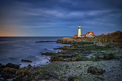 Portland Head Aglow Art Print