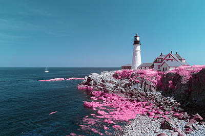 Photograph - Portland Head Cotton Candy by Brian Hale
