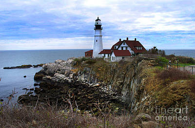 Photograph - Portland Head In Maine by Skip Willits