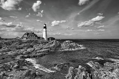 Photograph - Portland Head Lamp by Denis Lemay