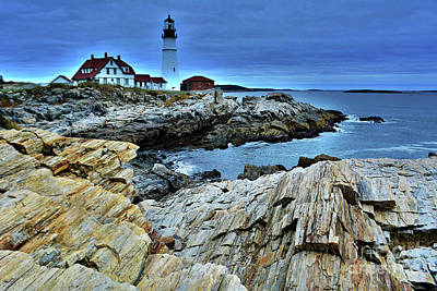 Photograph - Portland Head Leap by Third Eye Perspectives Photographic Fine Art