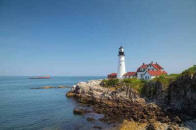Photograph - Portland Head Light 4 by Brian Hale