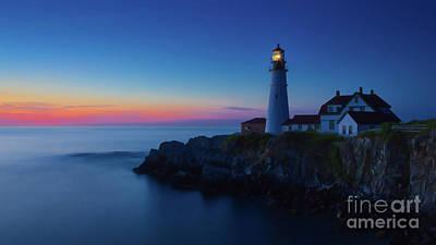 New England Lighthouse Digital Art - Portland Head Light 4 by Jerry Fornarotto