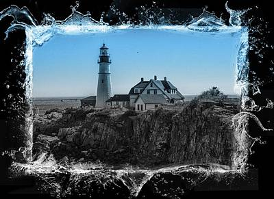 Photograph - Portland Head Light 8 by Sherman Perry