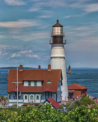 Photograph - Portland Head Light And Ram Island Ledge Lighthouse by Brian MacLean